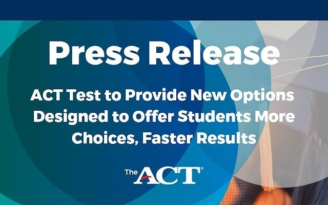 New Options Give Students More Choices with the ACT